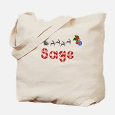 Sage, Christmas Tote Bag