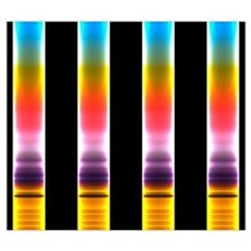 Chromatography Canvas Art