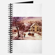 Curry Ives American Homestead Winter Journal