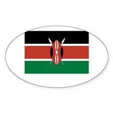 Kenya Flag Picture Oval Decal
