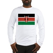 Kenya Flag Picture Long Sleeve T-Shirt