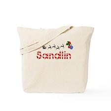 Sandlin, Christmas Tote Bag