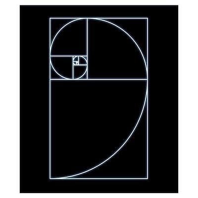 Fibonacci spiral, artwork Poster