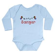 Sanger, Christmas Long Sleeve Infant Bodysuit