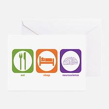 Eat Sleep Neuroscience Greeting Cards (Package of