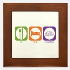 Eat Sleep Neuroscience Framed Tile