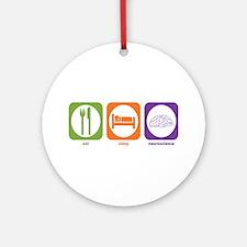 Eat Sleep Neuroscience Ornament (Round)