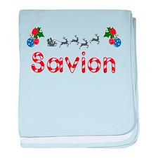 Savion, Christmas baby blanket