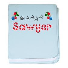 Sawyer, Christmas baby blanket