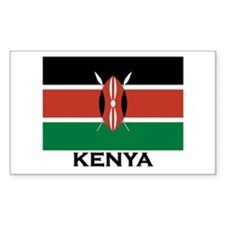 Kenya Flag Merchandise Rectangle Decal