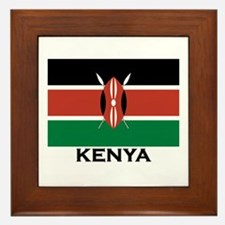 Kenya Flag Merchandise Framed Tile