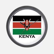 Kenya Flag Merchandise Wall Clock