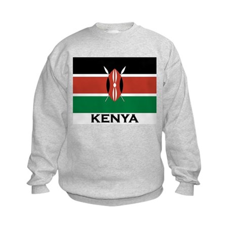 Kenya Flag Merchandise Kids Sweatshirt