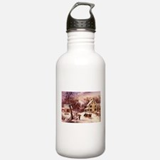 Curry Ives American Homestead Winter Water Bottle