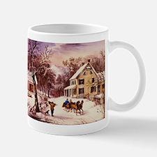 Curry Ives American Homestead Winter Mug
