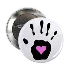 """Heart in Hand 2.25"""" Button (10 pack)"""