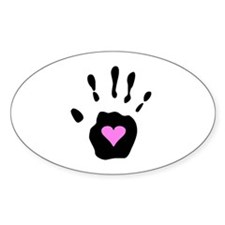 Heart in Hand Oval Decal