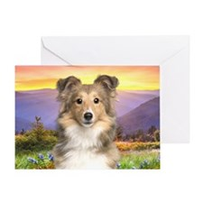 Sheltie Meadow Greeting Card