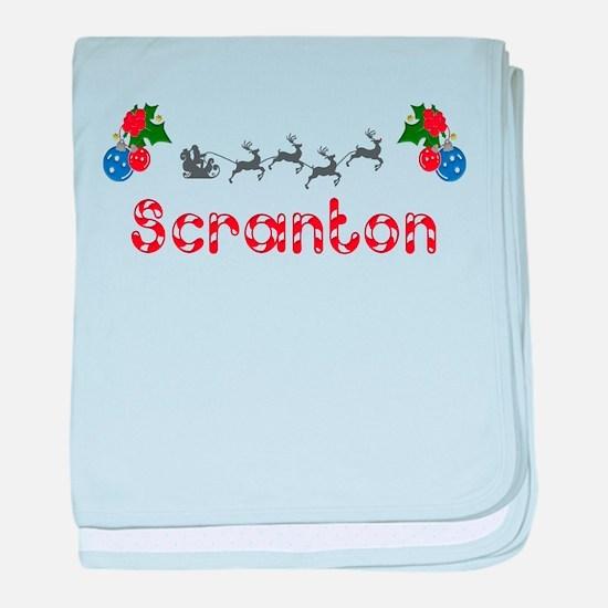 Scranton, Christmas baby blanket