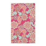 Flower Retro Pink 3'x5' Area Rug