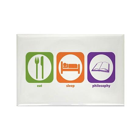 Eat Sleep Philosophy Rectangle Magnet