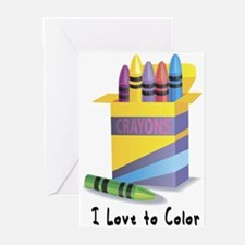 Jwish Kids Love To Color Greeting Cards (Pk of 10)