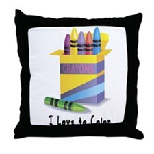 Jwish Kids Love To Color Throw Pillow