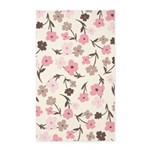Flower Simple Pink/White 3'x5' Area Rug