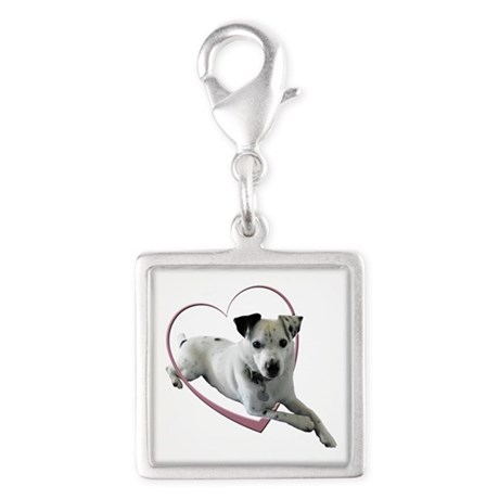 Love Jack Russell Terrier Dog Silver Square Charm