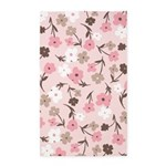 Flower Simple Pink 3'x5' Area Rug