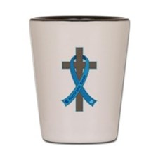 Hurricane Sandy Cross Shot Glass