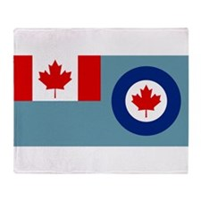 Royal Canadian Air Force Ensign Throw Blanket