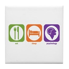 Eat Sleep Psychology Tile Coaster