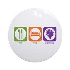 Eat Sleep Psychology Ornament (Round)