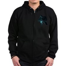 Light Raven Transparent Zip Hoody