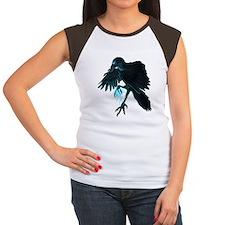 Light Raven Transparent Women's Cap Sleeve T-Shirt
