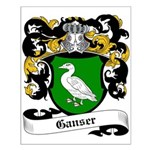 Ganser Coat of Arms Small Poster