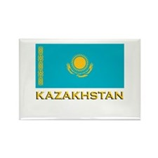 Kazakhstan Flag Stuff Rectangle Magnet
