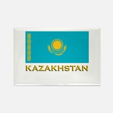 Kazakhstan Flag Stuff Rectangle Magnet