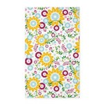 Flower Vines Yellow 3'x5' Area Rug
