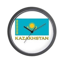 Kazakhstan Flag Stuff Wall Clock
