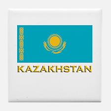 Kazakhstan Flag Stuff Tile Coaster