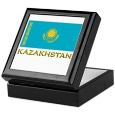 Kazakhstan Flag Stuff Keepsake Box