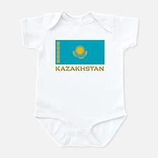 Kazakhstan Flag Stuff Infant Bodysuit