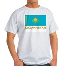 Kazakhstan Flag Stuff Ash Grey T-Shirt