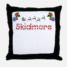 Skidmore, Christmas Throw Pillow