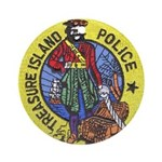 Treasure Island Police Ornament (Round)