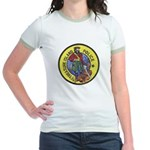 Treasure Island Police Jr. Ringer T-Shirt