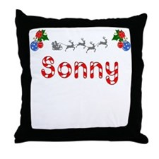 Sonny, Christmas Throw Pillow