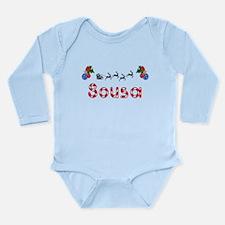 Sousa, Christmas Long Sleeve Infant Bodysuit
